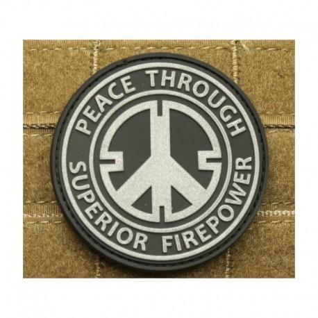 JTG Peace through  Rubber Patch swat