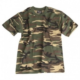 MIL-TEC T-SHIRT 100% Cotton Kids size Woodland