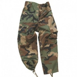 Mil-Tec Rip-Stop BDU Trousers Kids Woodland