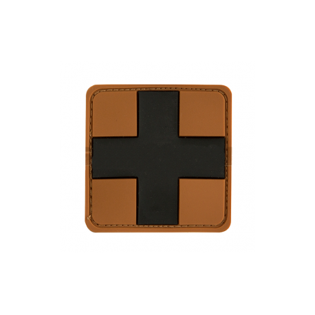 JTG Red Cross  Rubber Patch TAN