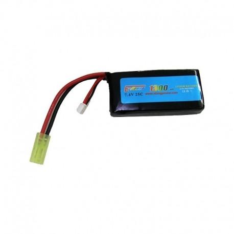 E-Power Batteria Li-Po 7.4x1300 25C wide