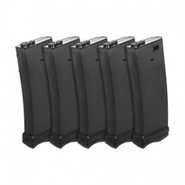 Modify XTC 190-Round AEG Magazine for M4 / M16 series (5 pcs/ set) - Black