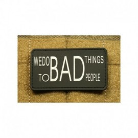 JTG We Do Bad Things Rubber Patch