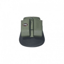 Fobus Paddle Double Mag Pouch for 9mm OD Green