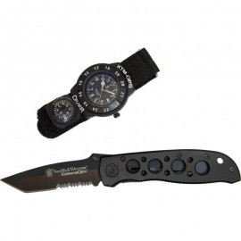 Smith & Wesson Extreme Ops Watch & Knife Combo