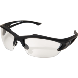 EDGE Acid Gambit Matte Black Clear Thin Temple Vapor Shield© Ballistic Glasses