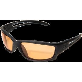 EDGE Blade Runner XL Matte Black Tiger's Eye Vapor Shield© Ballistic Glasses