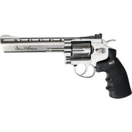 """ASG Dan Wesson 6"""" revolver Silver CO2"""