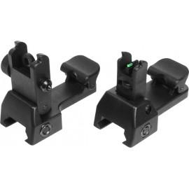 ASG Coppia tacche di mira Flip-Up Fibra ottica