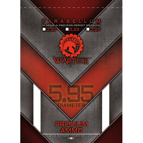 """WarTech New""""PARABELLUM"""" BBs hi grade 0.25gr"""
