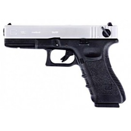 WE G18C DUO TONE GBB SILVER- BLACK