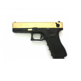 WE G18C GEN 3 DUO TONE GBB GOLD - BLACK