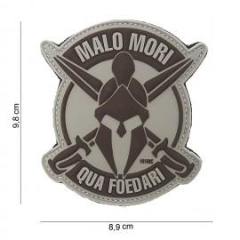 """101 INC Patch 3D PVC """"Malo Mori"""" GREY/BROWN"""