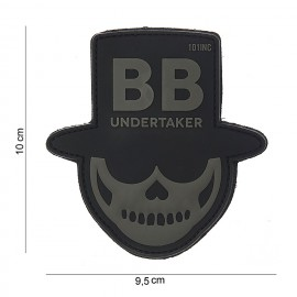 101 INC PATCH PVC BB UNDERTAKER 3D BLACK