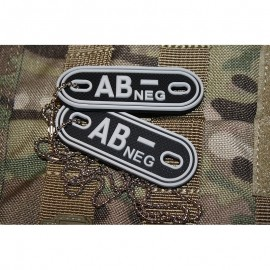 JTG DOG TAGS BLOODTYPE AB NEG. SWAT