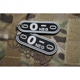 JTG DOG TAGS BLOODTYPE 0 NEG. SWAT