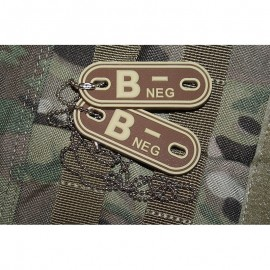 JTG DOG TAGS BLOODTYPE B NEG. DE