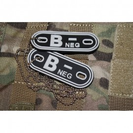 JTG DOG TAGS BLOODTYPE B NEG. SWAT