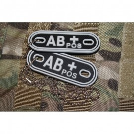 JTG DOG TAGS BLOODTYPE AB POS. SWAT
