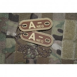 JTG DOG TAGS BLOODTYPE A NEG. DE