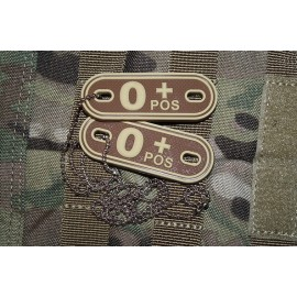 JTG DOG TAGS BLOODTYPE 0 POS. DE