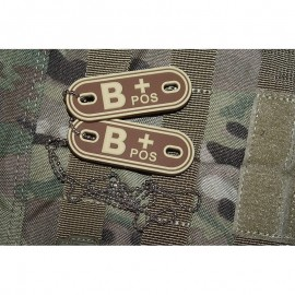 JTG DOG TAGS BLOODTYPE B POS. DE