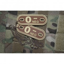 JTG DOG TAGS BLOODTYPE 0 NEG. DE