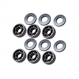 FPS Boccole da 8 mm cuscinettate aperte per A&K MINIMI / M60 / MK4