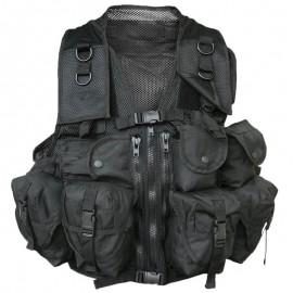 Mil-Tec Tactical Vest 9 Pouches Black