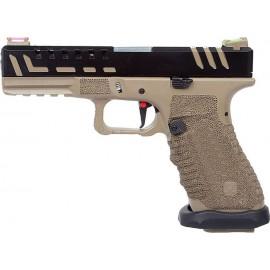 APS Scorpion D-MOD Desert Dual Power Pistol Co2 Blowback