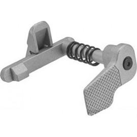 APS Rilascio caricatore maggiorato ambidestro in acciaio M4 Silver