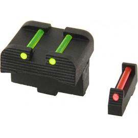 APS Tacche di mira in fibra per serie Glock