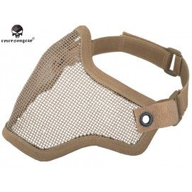 EMERSON Strike steel half face mask tan