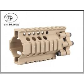 "BD Lite Style Aluminium 4"" Rail-bk"