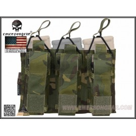EMERSON 5.56 and Pistol Triple Open Top Magazine Pouch Multicam Tropic