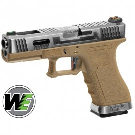 WE18C Custom SV Silver Barrel/TAN Metal Version GBB