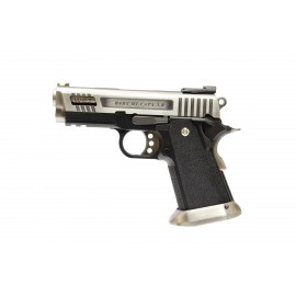 WE Force Hi-Capa 3.8 Velociraptor GBB Airsoft Pistol Silver