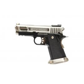 WE Force Hi-Capa 3.8 Velociraptor GBB Airsoft Pistol Silver