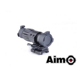 AIM-O FXD 4x Magnifier Black