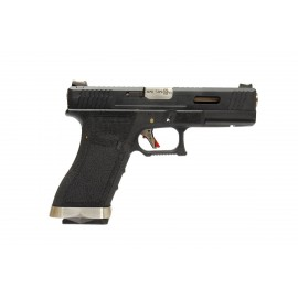 WE G17 Gen.4 Custom GBB Black/Silver