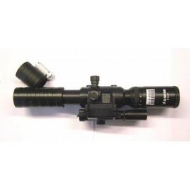 JS TACTICAL Ottica 3-9x32 con puntatore laser e livella interna