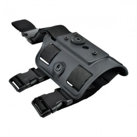 WOSPORT THIGH HOLSTER ADAPTER FOR 1° AND 2° VERSIONS FULLY ADJUSTABLE BLACK