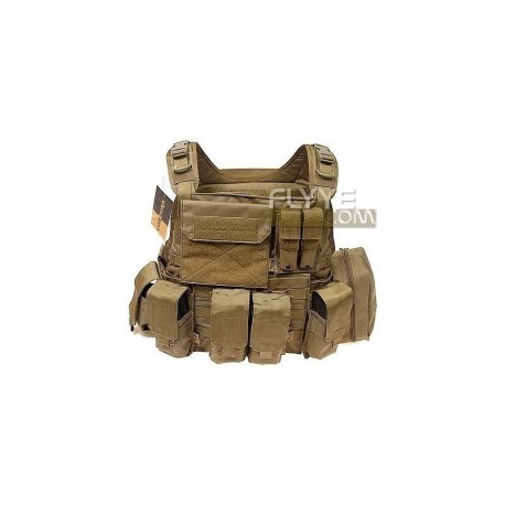 FLYYE Style PC Plate Carrier Con Pouch Set CB