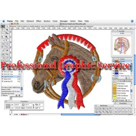 Professional graphic service for embroidery/printing service