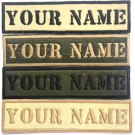 Custom embroidered Name Patches