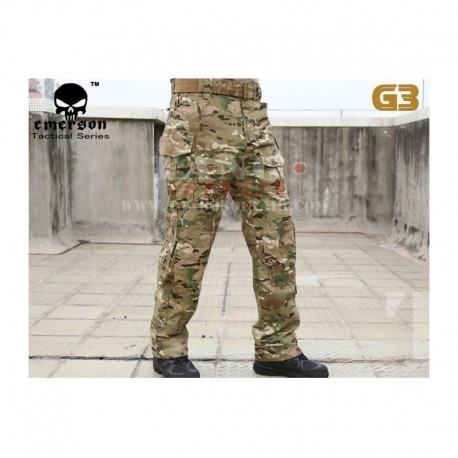 EMERSON 3G Combat Pants with kneepad MULTI-CAMO
