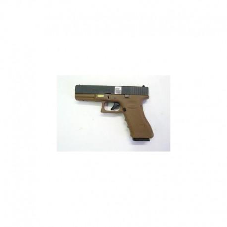WE Glock 17 TAN scarrellante a gas