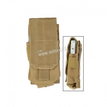 Mil-Tec M4-M16 Mag Pouch Coyote Brown