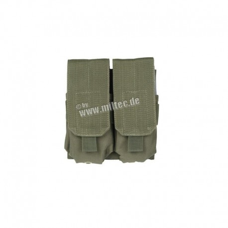 Mil-Tec M4-M16 Double Mag Pouch OD Green