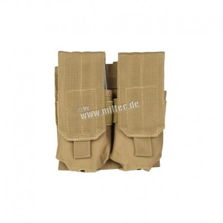 Mil-Tec M4-M16 Double Mag Pouch Coyote Brown
